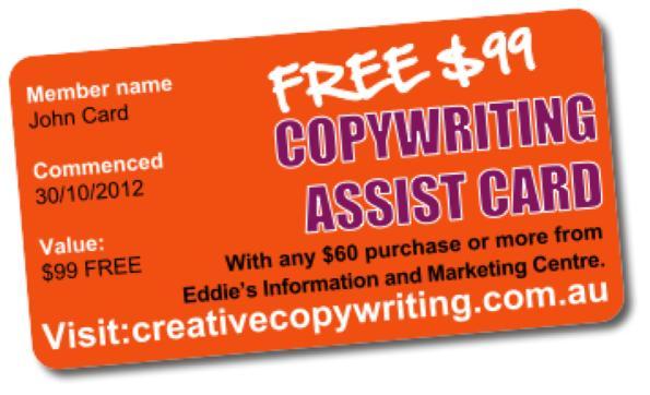 Eddies Copy writing Assist Card