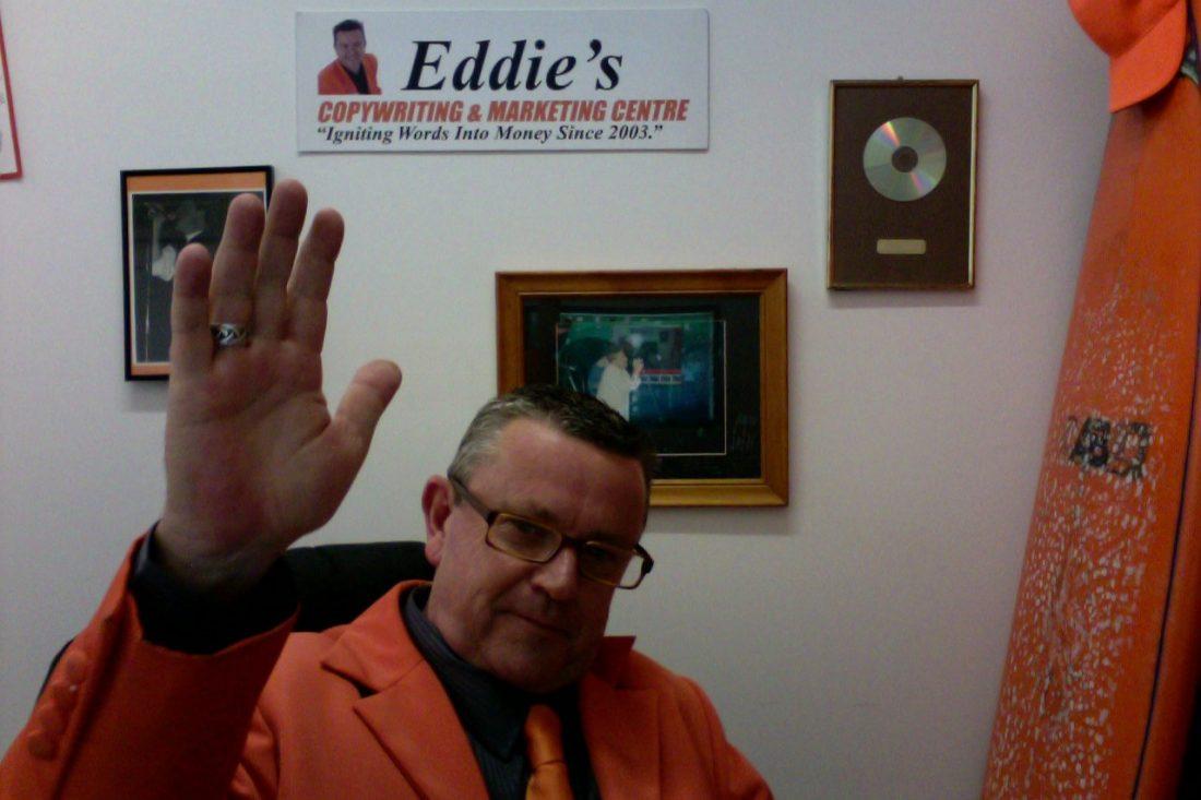 """""""Jaffaman Eddie Sitting at Desk"""""""