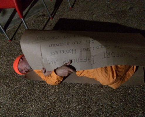 Copywriter CEO Sleepout homeless image