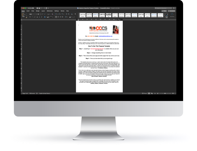 CCCS Proposal Template Image - Five Powerhouse Tips
