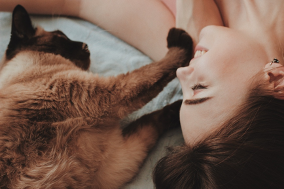 Image of owner and cat Creative Copywriting Pet Business Copywriting Services