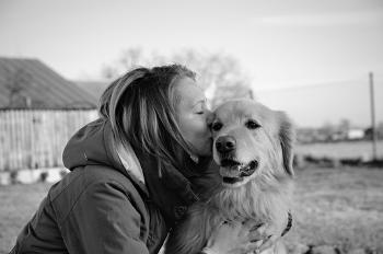 Image of dog & owner Creative Copywriting Pet Business Copywriting Services