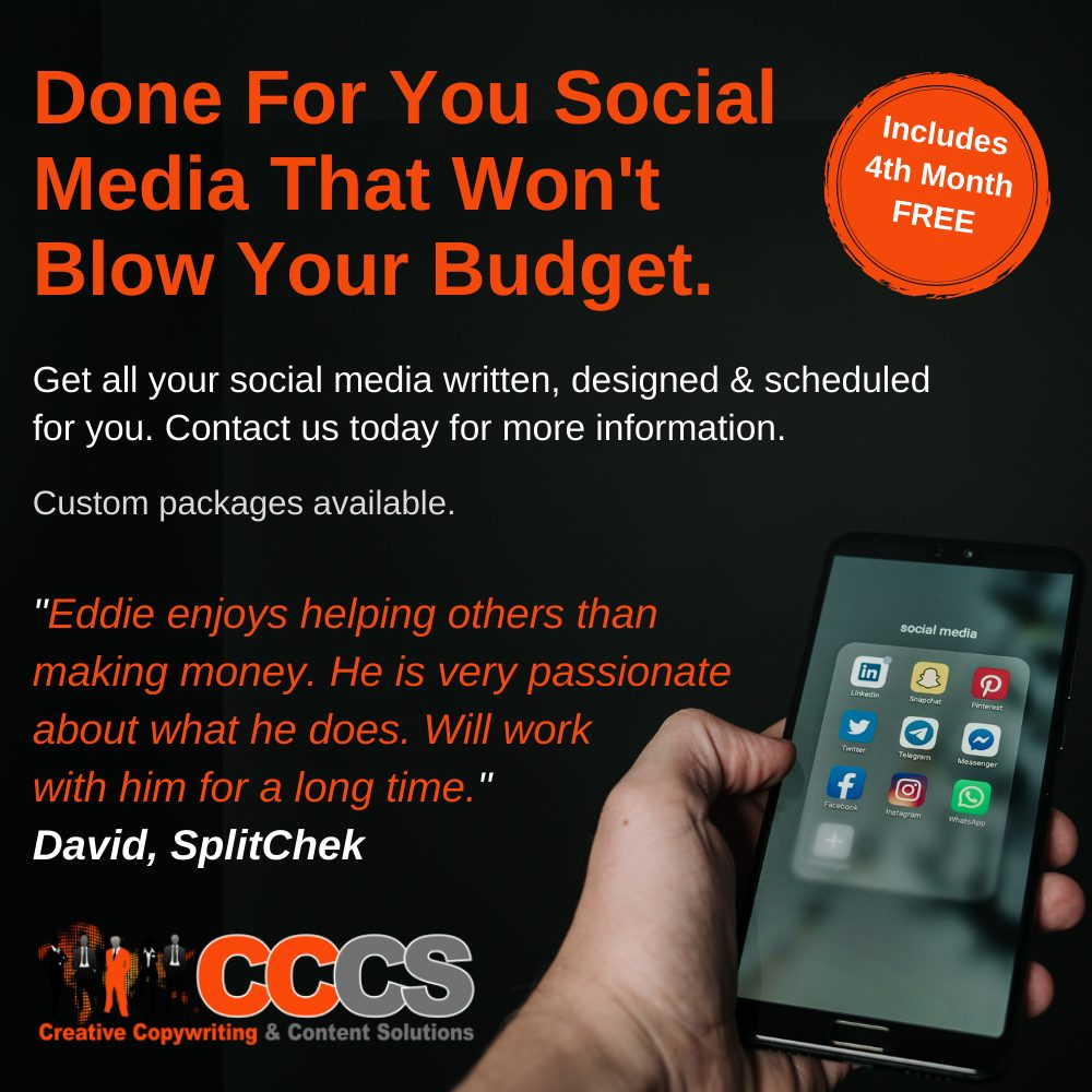 Done For You Social Media Marketing Slider Image Creative Copywriting & Content Solutions