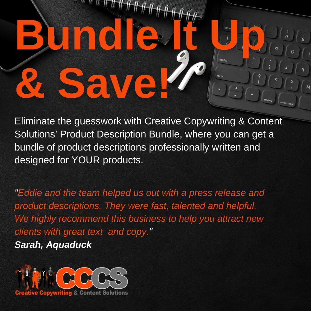 Product Description Bundle Pack Page Image Creative Copywriting & Content Solutions